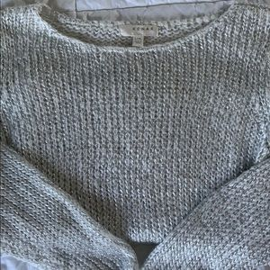 KENAR Metallic Weave Sweater